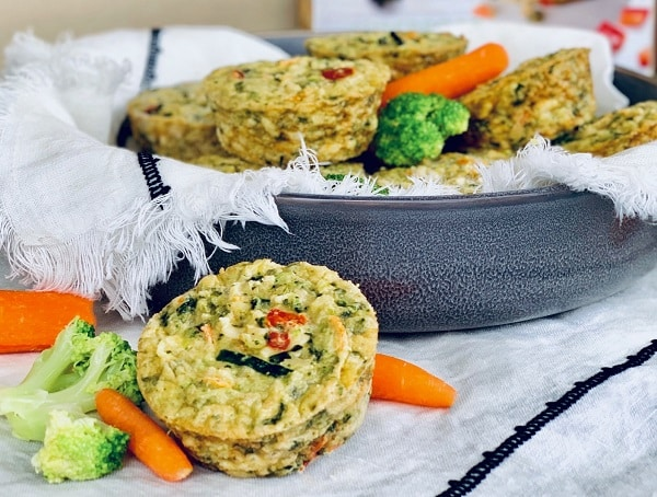 Veggie Cakes as Savory breakfast muffins