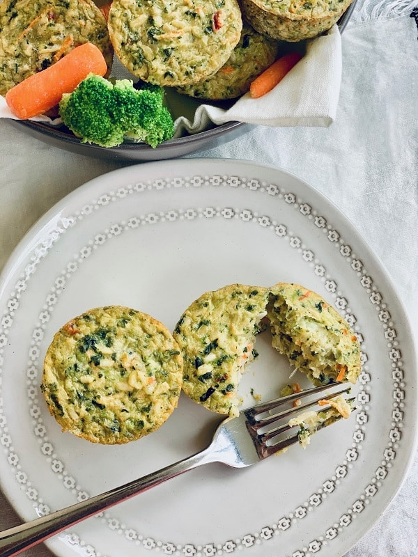 Veggie Cakes plated