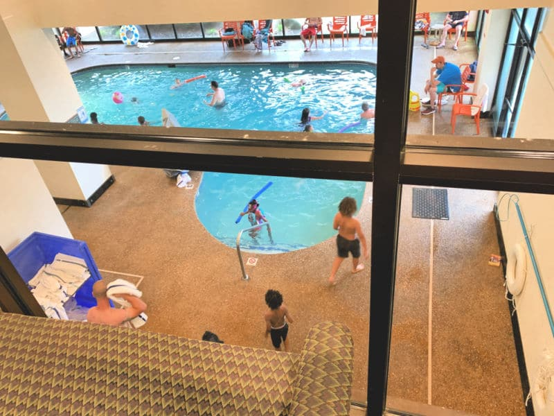 Indoor pool at Country Cascades