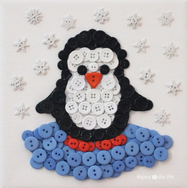Penguin-Button-Art