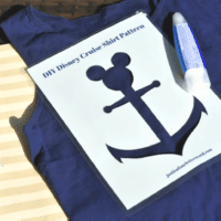 DIY Disney Cruise Shirts   FREE Template