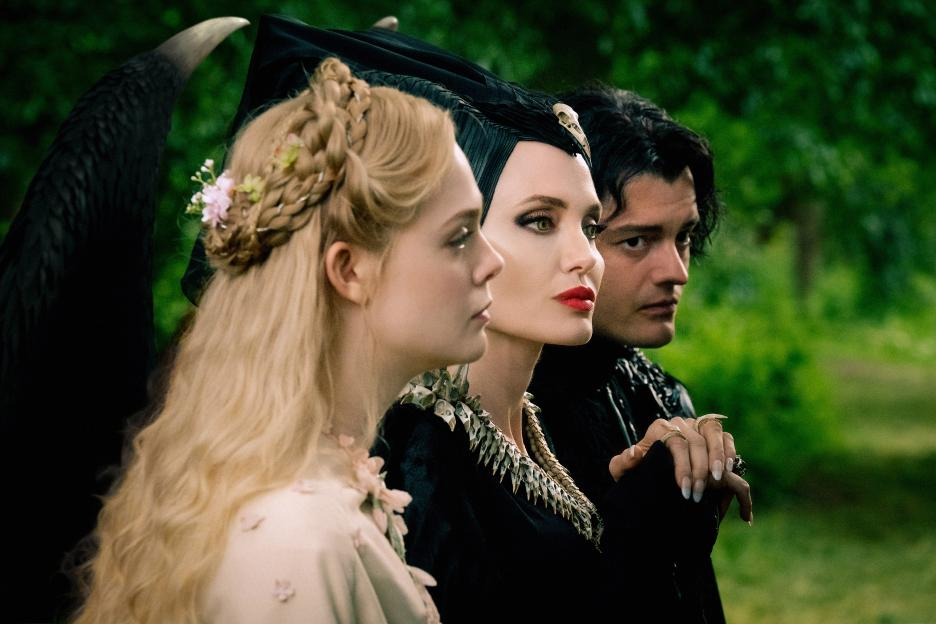 Maleficent with Aurora and Deevil