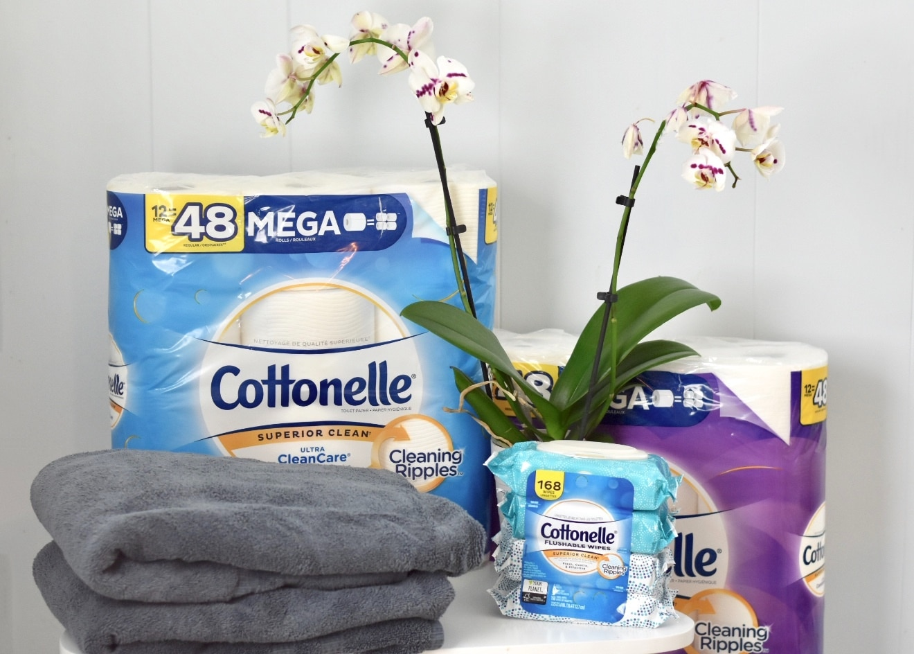 cottonelle flushable wipes and toilet paper