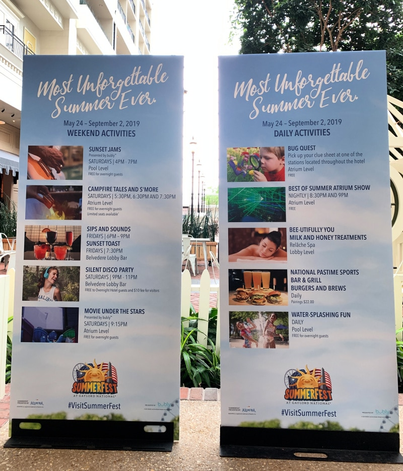 Summerfest Activities at Gaylord National