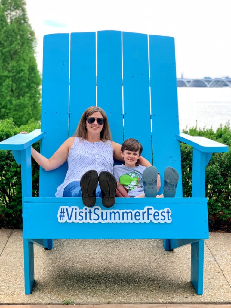 VisitSummerFest Chair photo op for Summer Vacation at Gaylord National