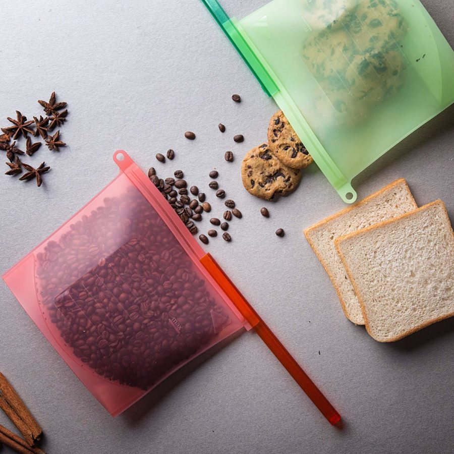silicone bags food storage