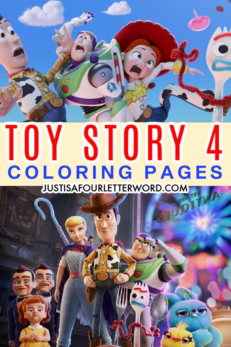 TOY STORY 4 COLORING PAGE printables