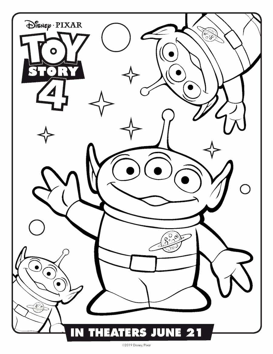 Toy Story 4 Alien Coloring Page
