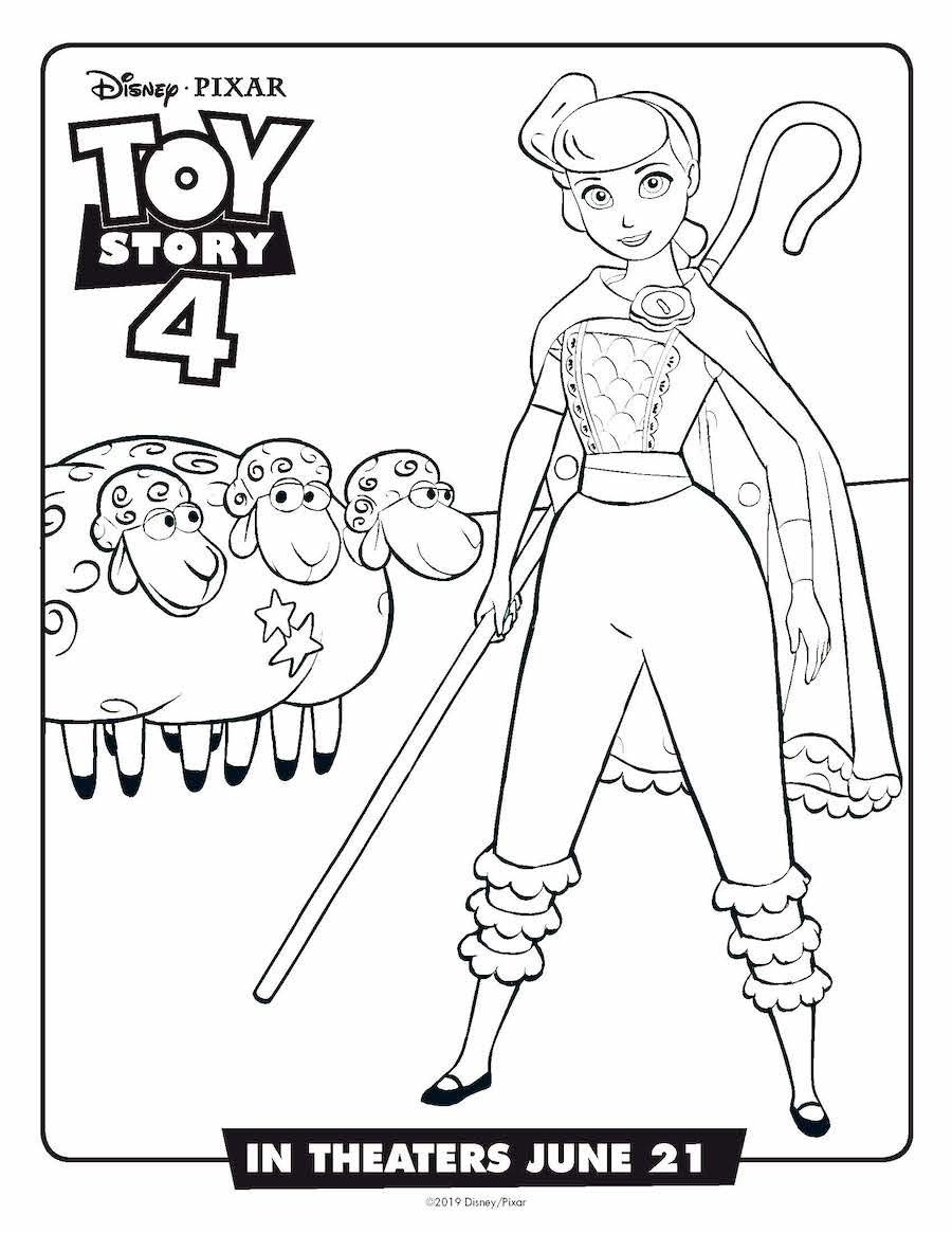 Toy Story 4 Bo Peep Coloring