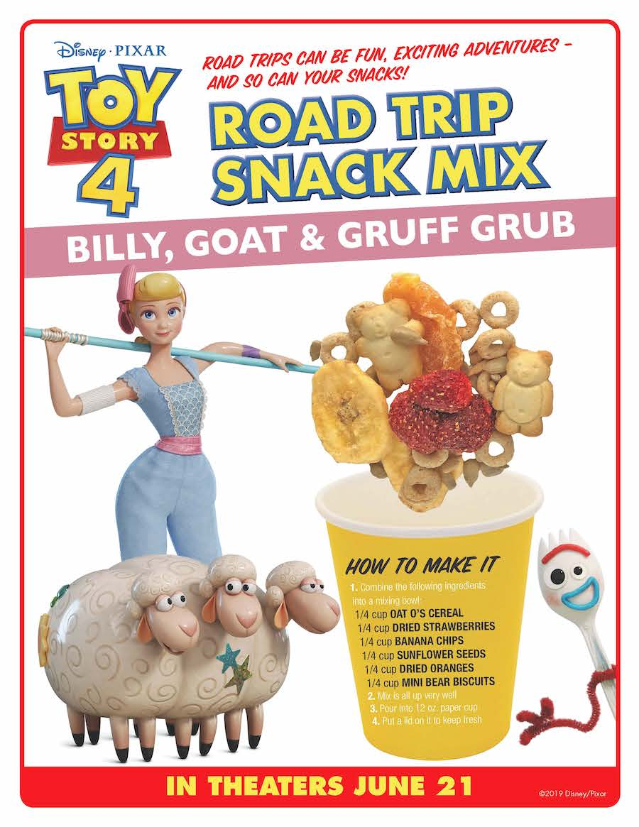 Toy Story 4 Bo Peep Snack Instructions