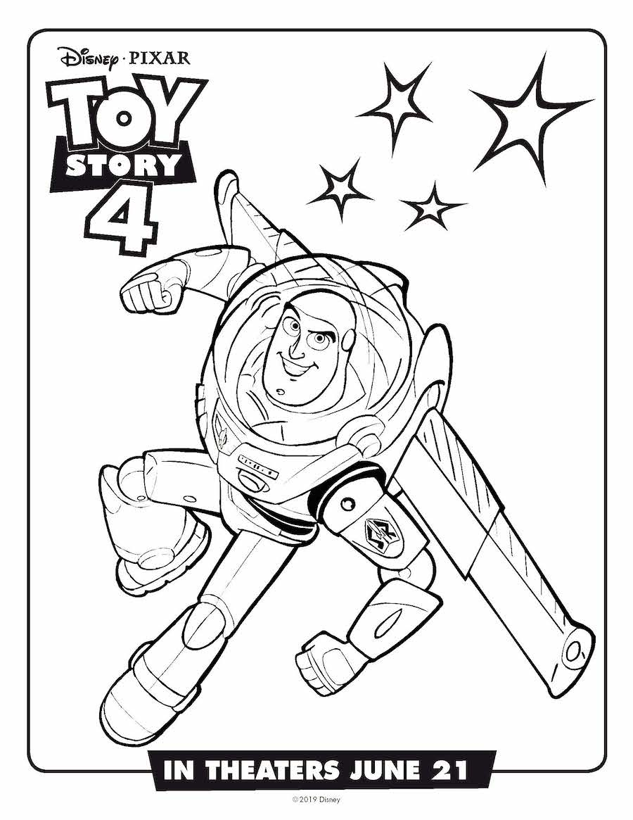 Toy Story 4 Buzz Coloring Page