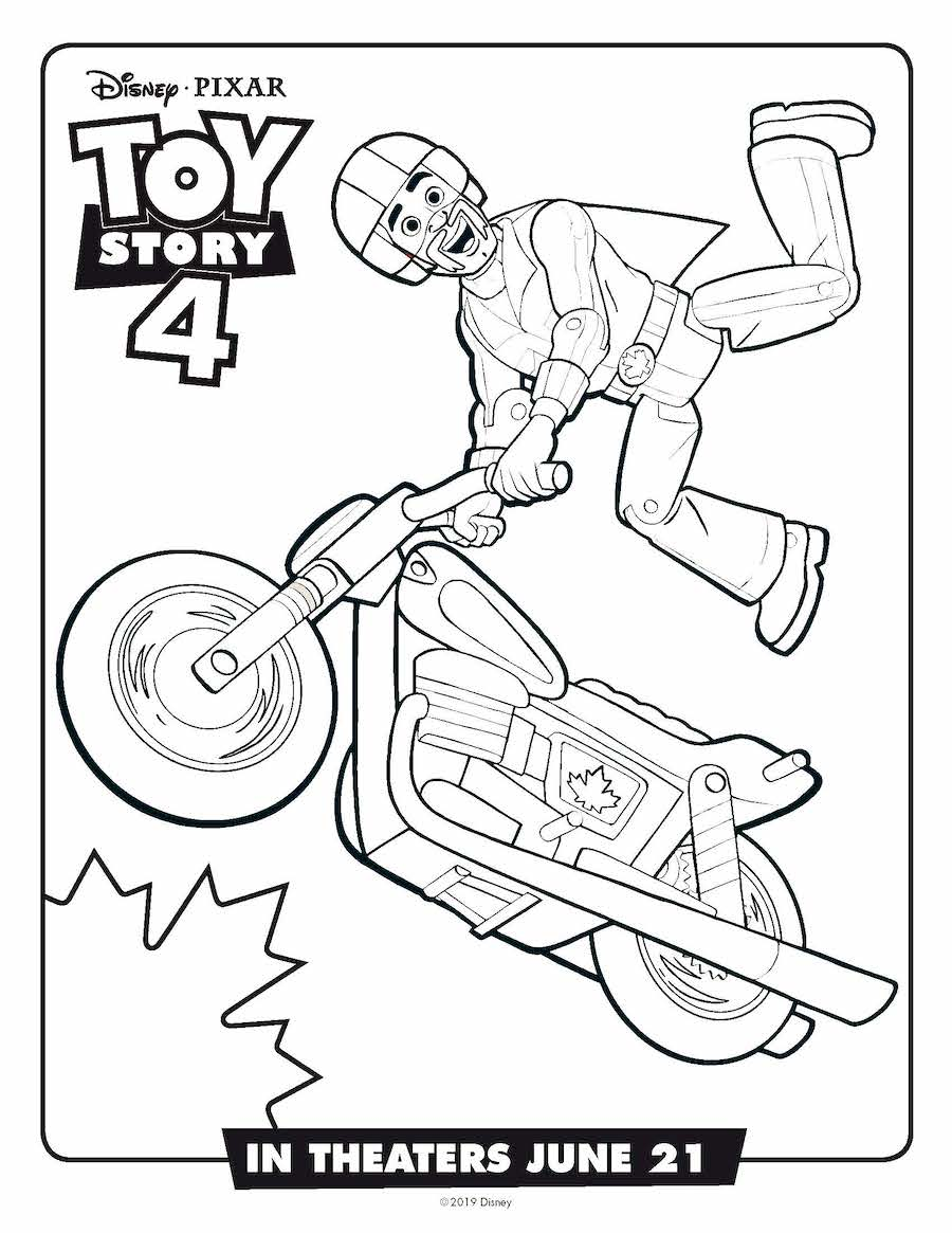Toy Story 4 Duke Coloring