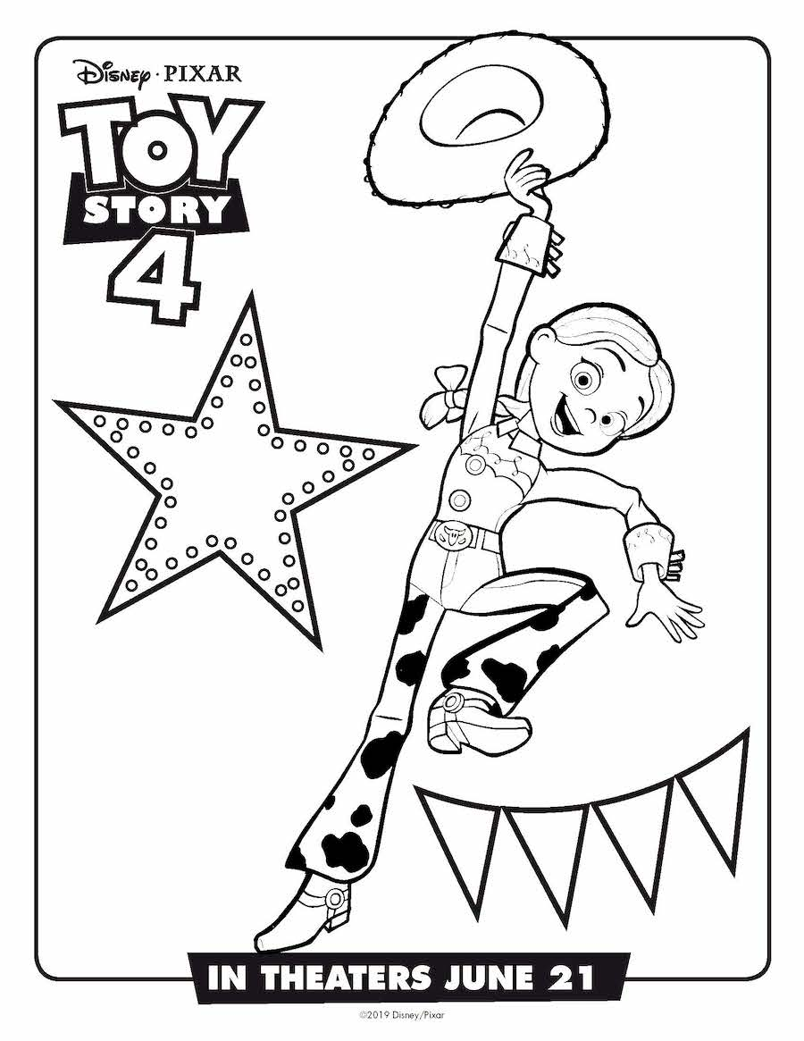 Toy Story 4 Jessie Coloring Page