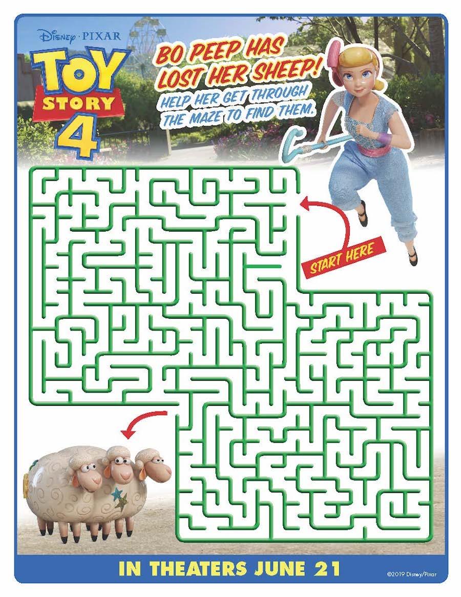 Toy Story 4 Maze