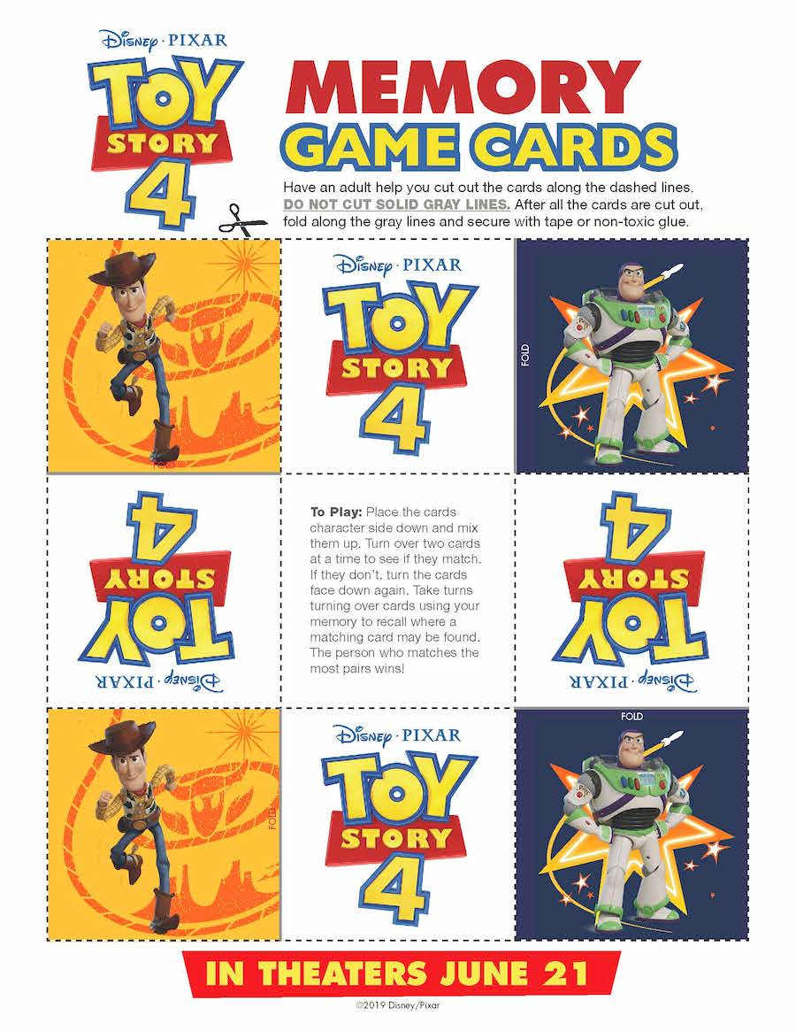 Toy Story 4 Memory Game Image