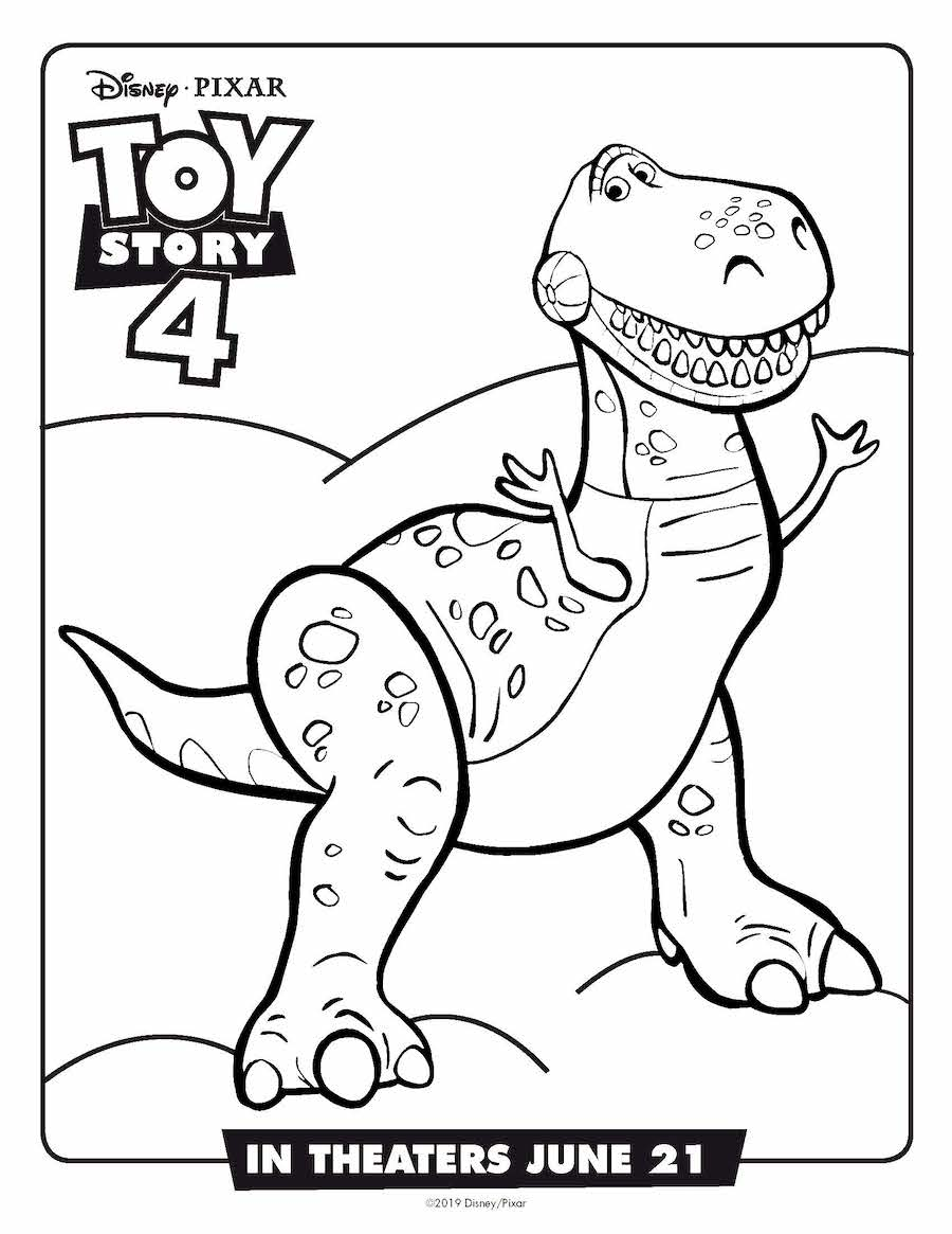 Toy Story 4 Rex Coloring