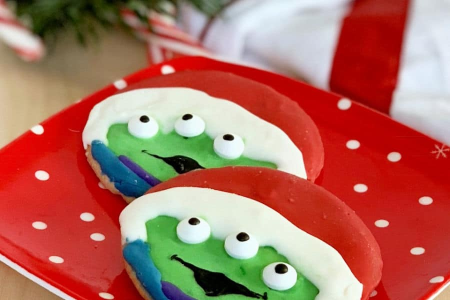 DIY Santa Alien Toy Story Christmas Cookies FEATURED