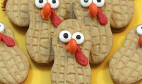 Nutter Butter Turkey Cookies!