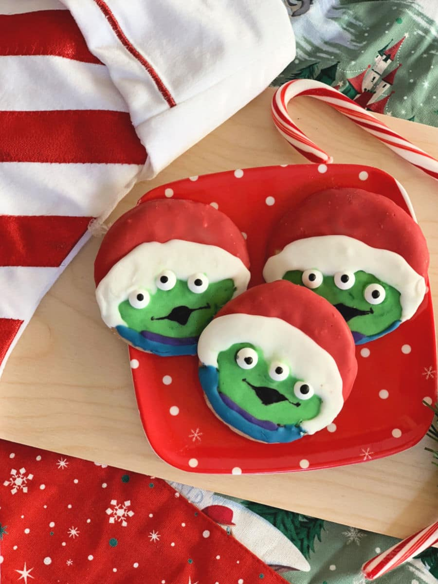 Santa Alien Toy Story Christmas Cookies