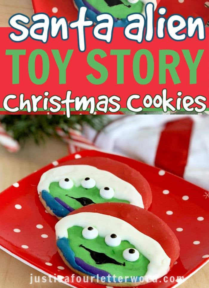 Alien Toy Story Christmas Cookies DIY