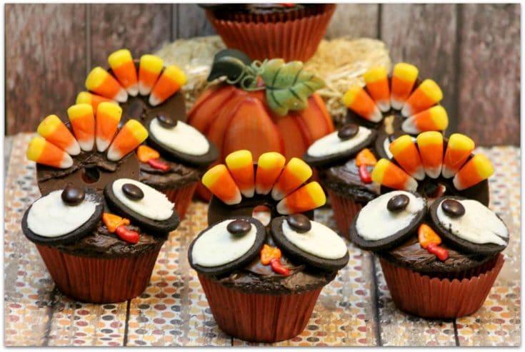 Thanksgiving Turkey Cupcakes - Food Fun & Faraway Places