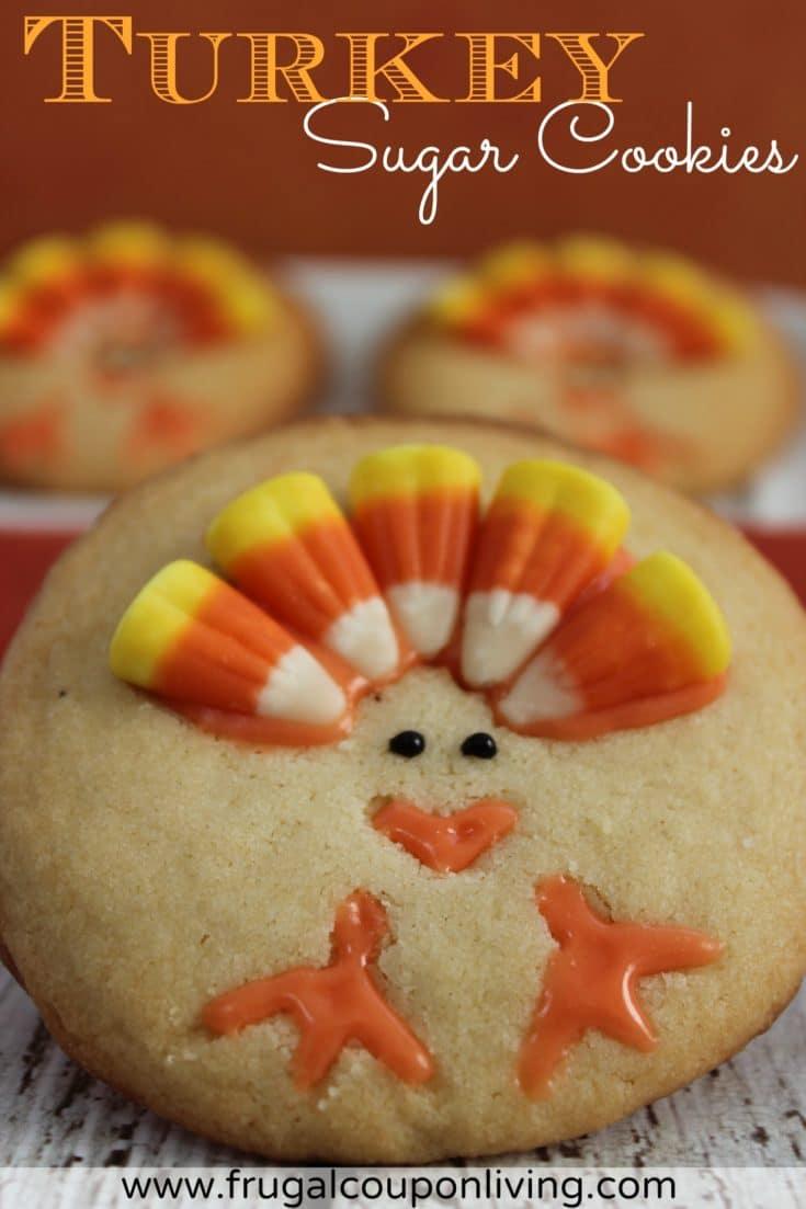 Turkey Sugar Cookies Recipe - Thanksgiving Food Craft