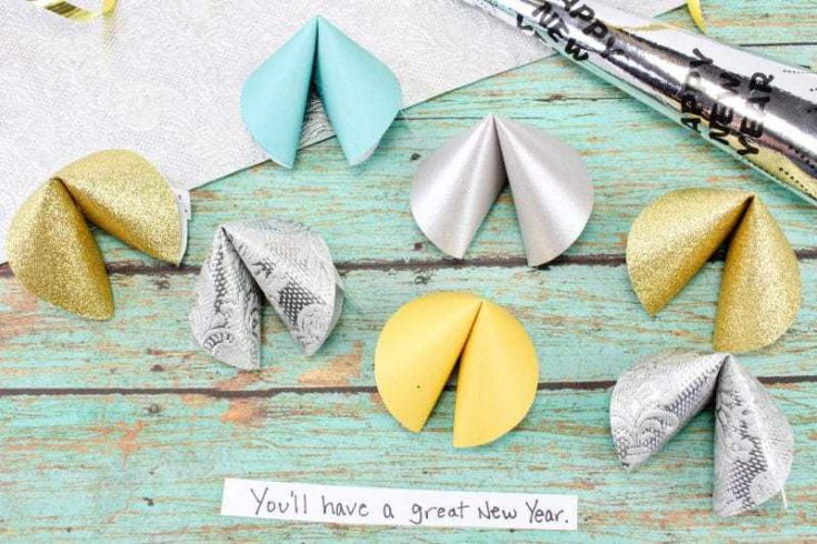 New Year's Eve Fun Paper Fortune Cookies Craft