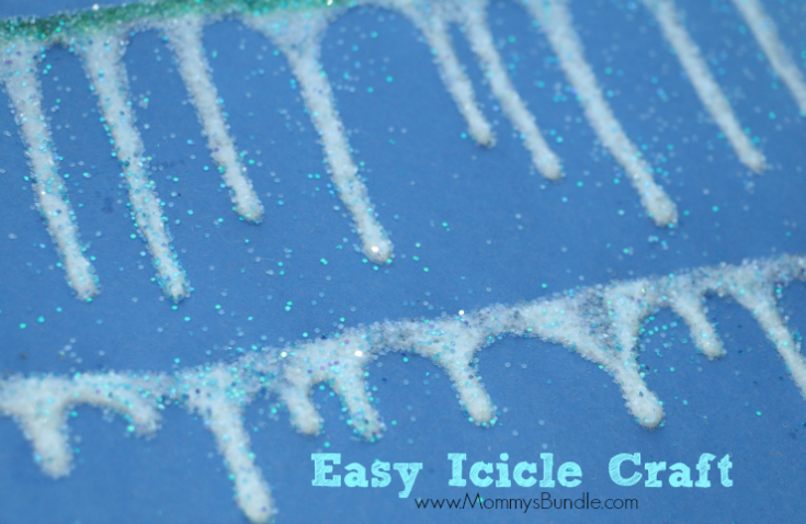 Icicle Craft: Easy Winter Activity for Toddlers