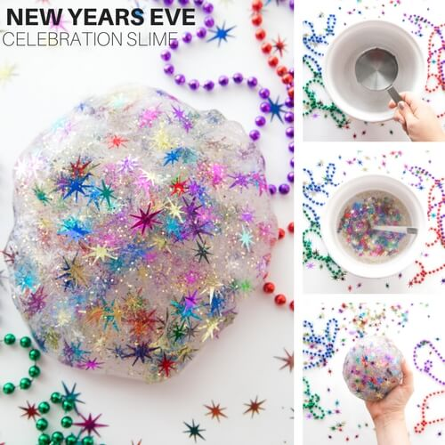 Celebration New Years Eve Slime Recipe for Kids!
