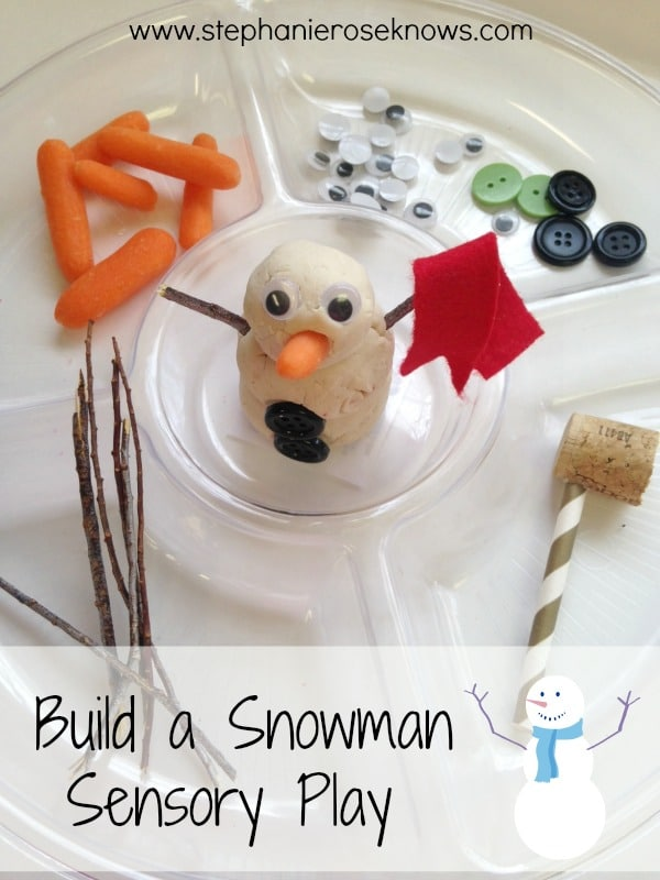 Build a Snowman Playdough