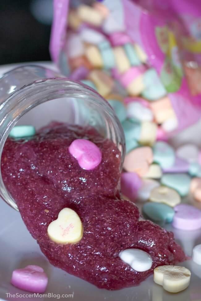 Edible Conversation Heart Slime