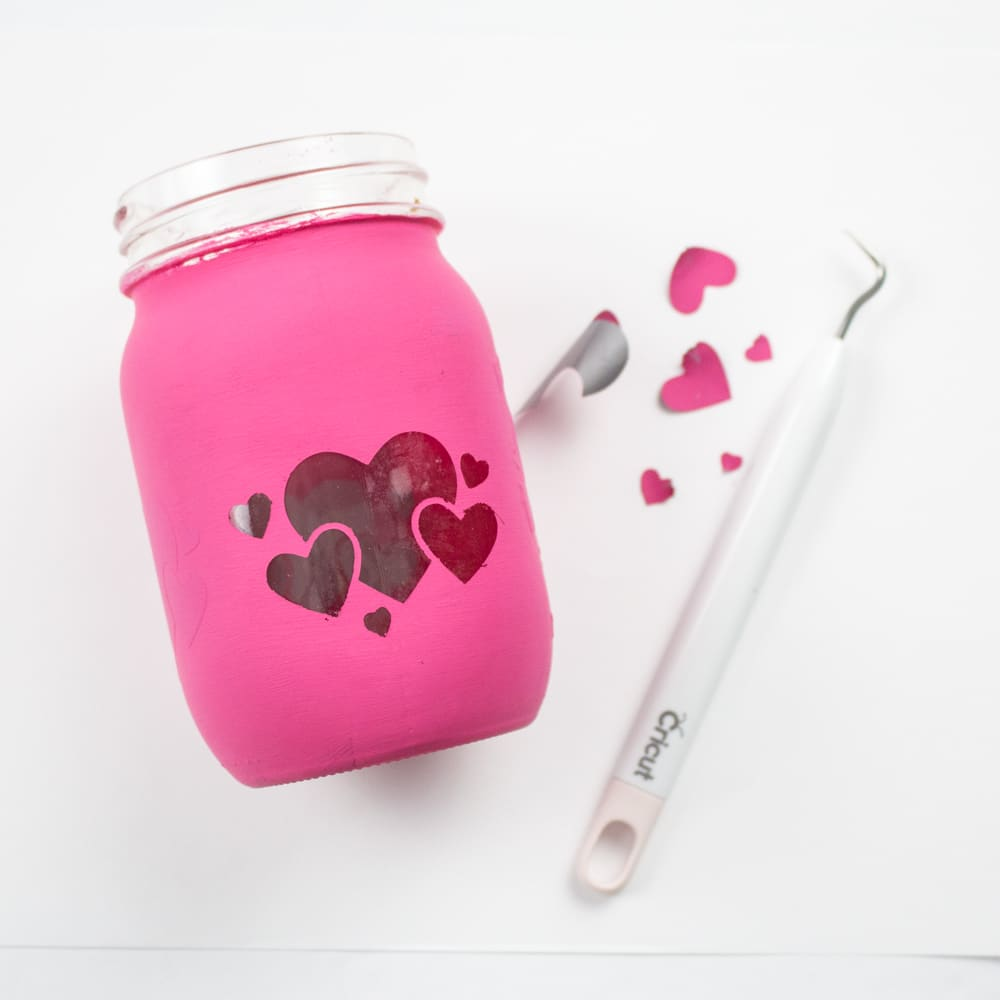 Cricut Mason Jar Candle Holder-1-2