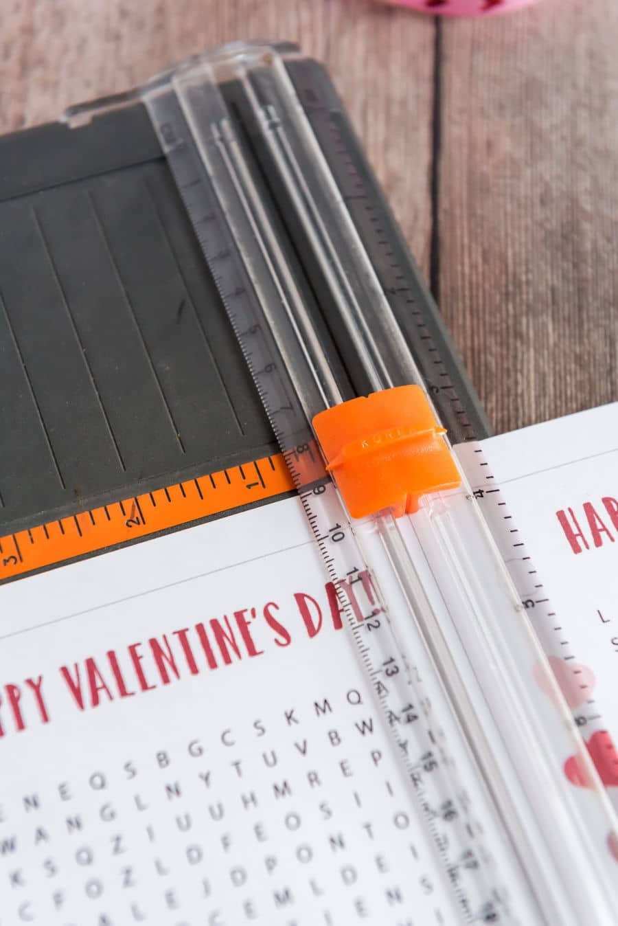 Cutting Word Search Valentines