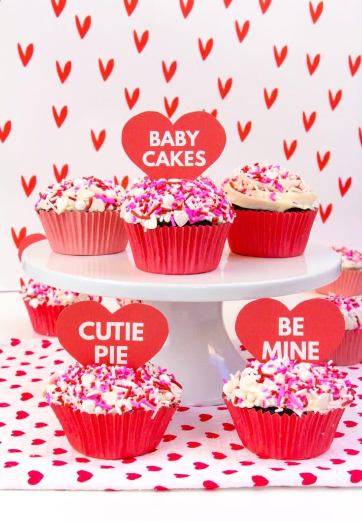 DIY Surprise Cupcake Valentines