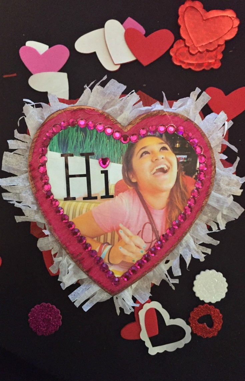 Decorated Photo Heart Chocolate Box Craft