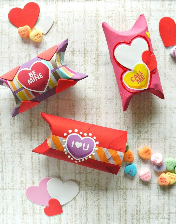 DIY Valentine's Day Toilet Paper Roll Gift Box Craft
