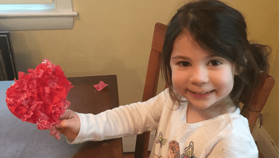 Tissue Heart Easy Valentine Craft