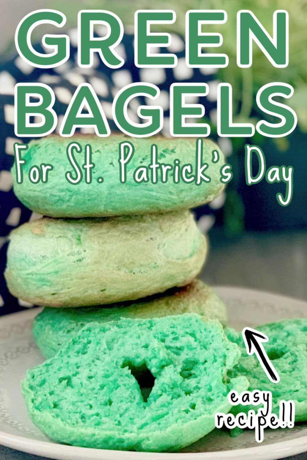 Green Bagels for St. Patrick's Day Tutorial