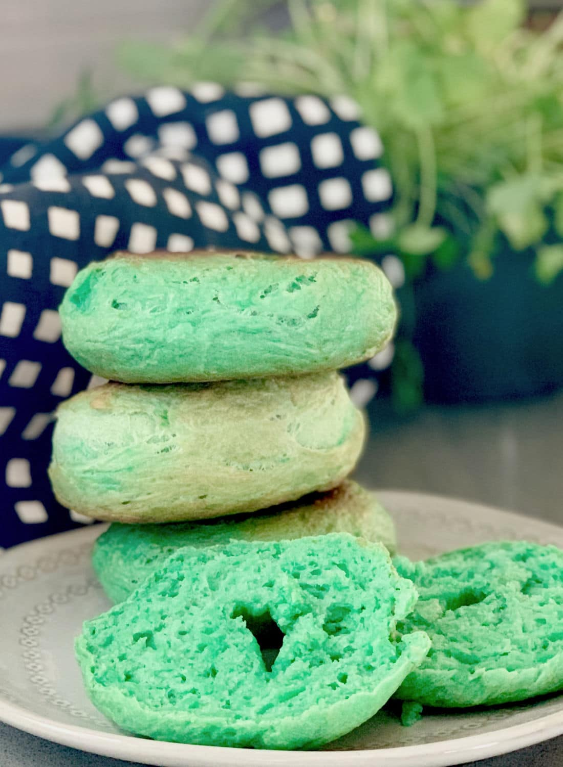 Green Bagels for St. Patrick's Day