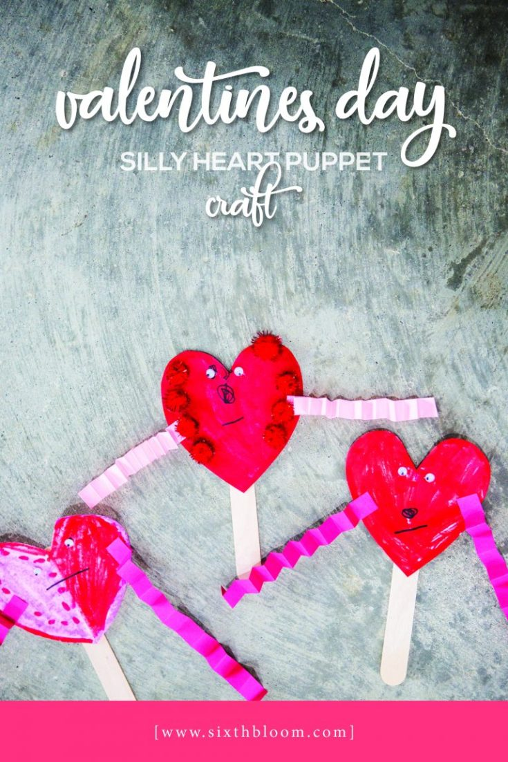 Preschool Valentines Day Craft - Silly Heart Puppets