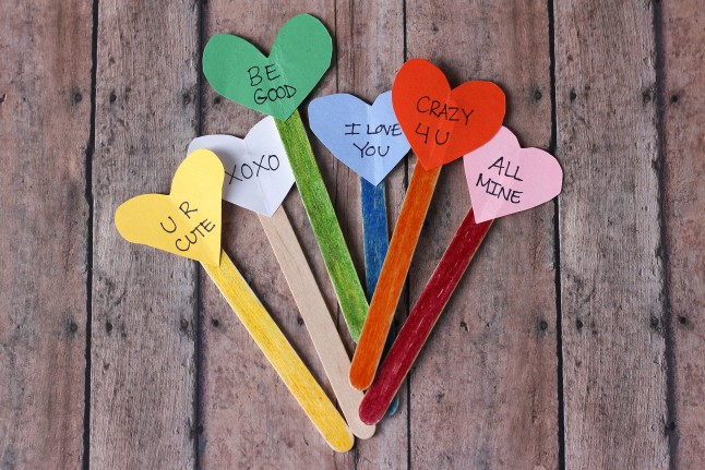 Simple Coversation Hearts Craft