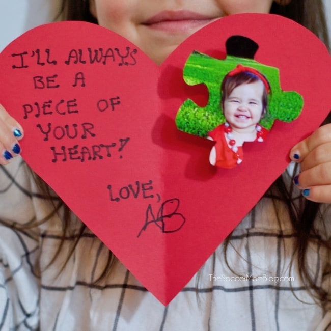 """Piece of my Heart"" Kid-Made Valentine's Day Card"