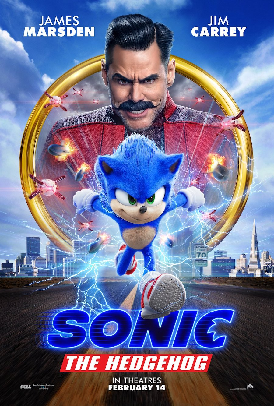 Sonic the Hedgehog Movie Poster in Sonic the hedgehog parents guide post