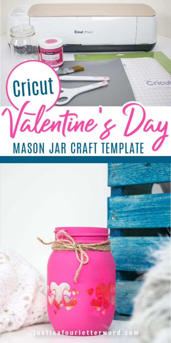 Valentine's Day Mason Jar Candle Holders