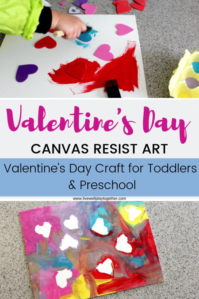 Valentine's Resist Art: A Fun Valentine's Day Craft