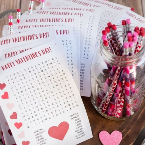 Printable Valentines from Teachers to Students