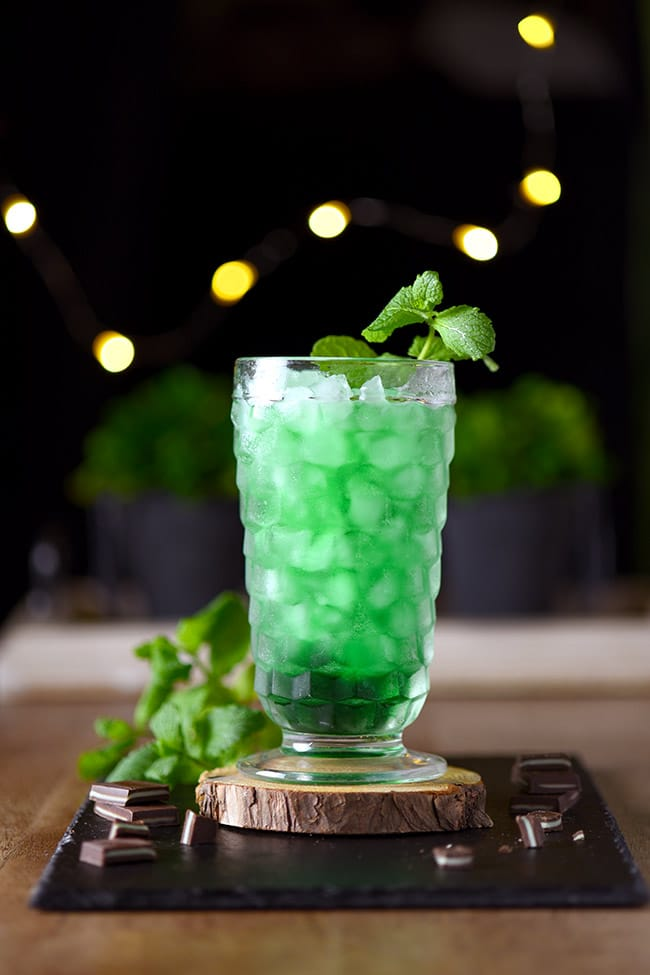 Grandpa's Green Stinger Drink