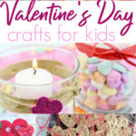 Valentines Day crafts for kids pinterest collage