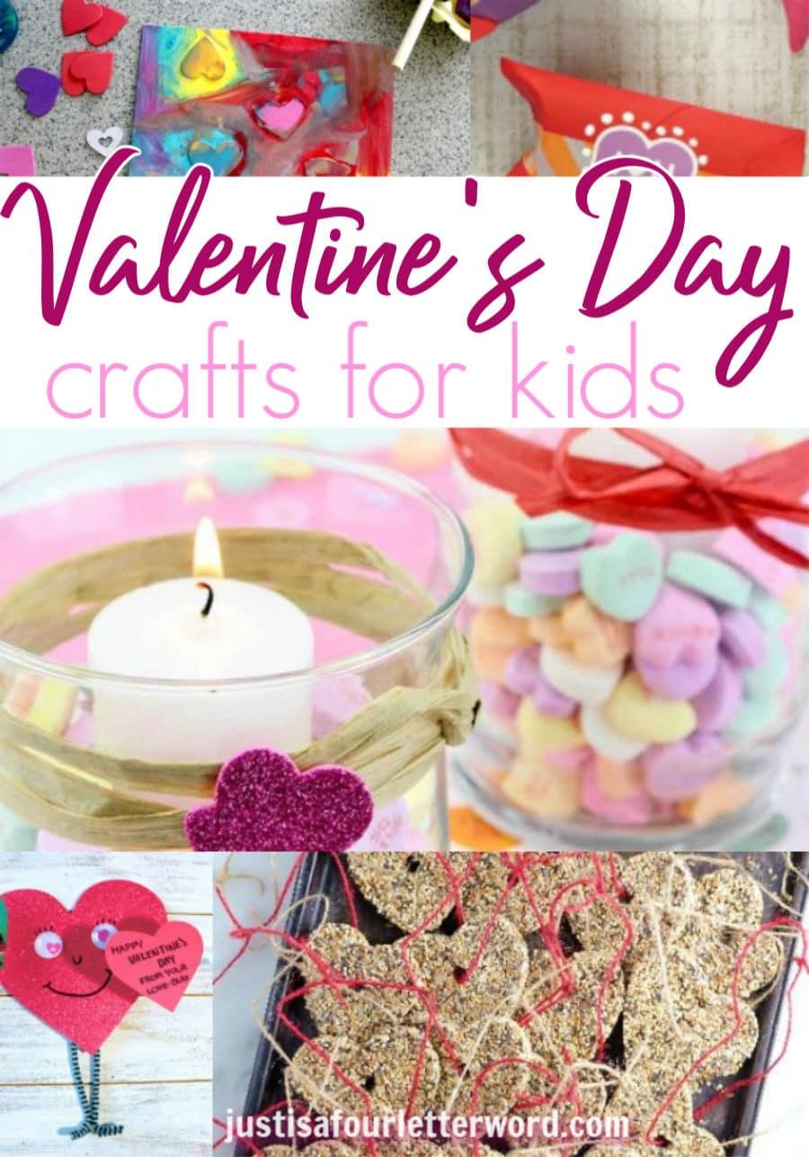 Valentines crafts for kids pinterest collage