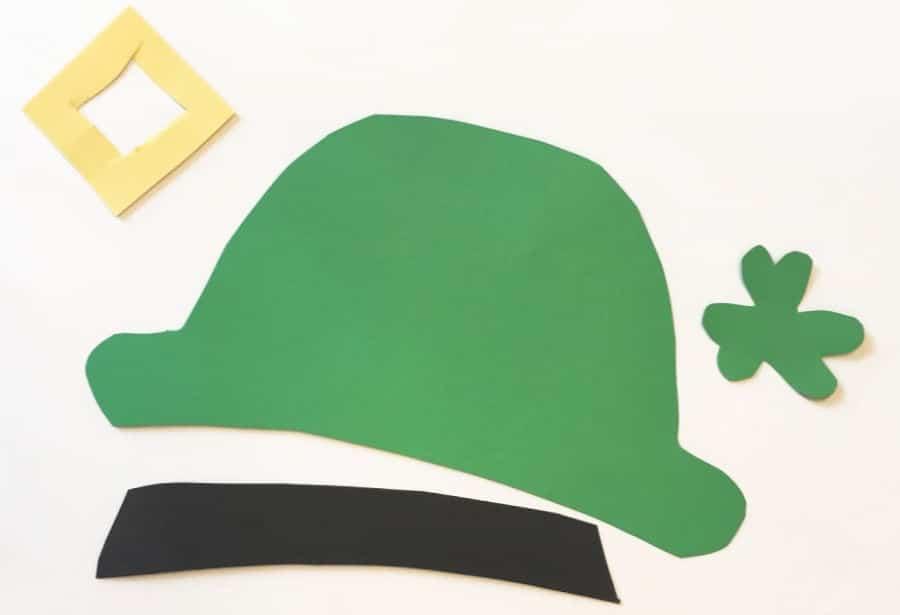 Leprechaun hat pieces cut out (1)